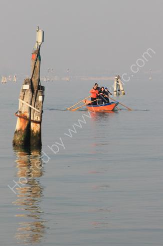 Rowing on the Venetian Lagoon