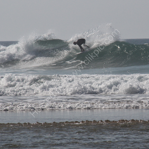 Surfing at Chapel Porth