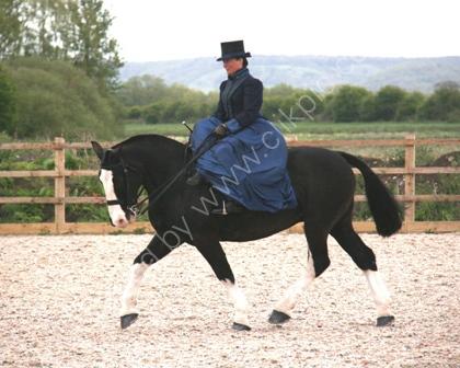 Lady Riding Side saddle