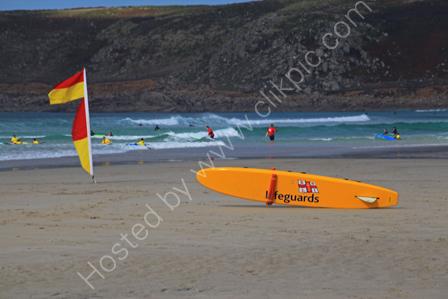 Lifeguards on watch, Whitesand Bay