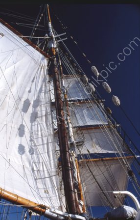 Soren Larsen with sails set