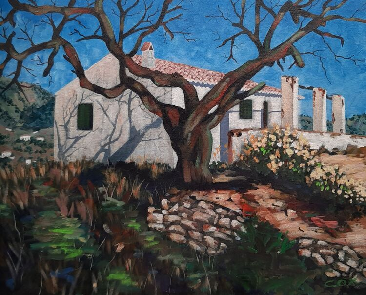 "The Old Finca acrylic on canbas 20"" x 16"" £395"