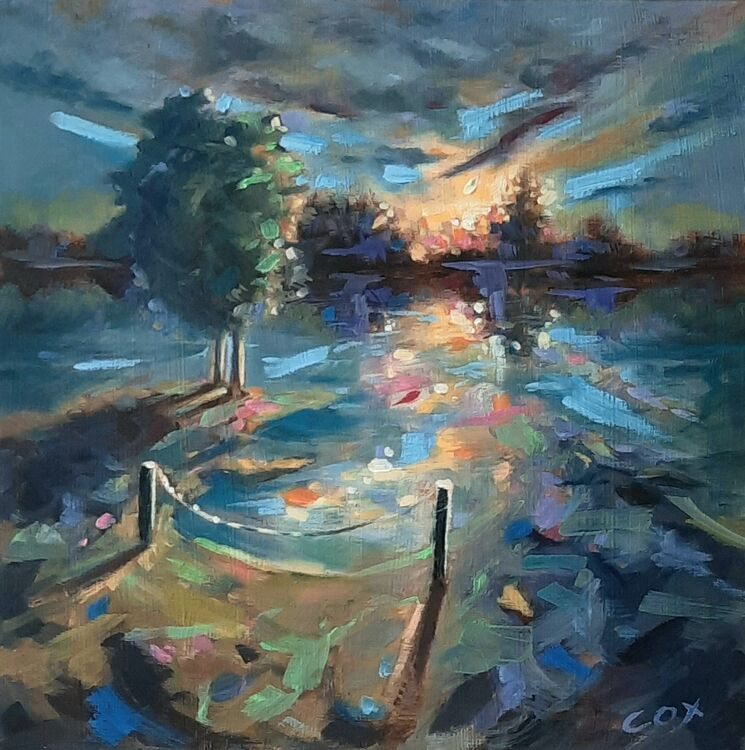 """Last touch of light oil on board  10"""" x 10"""" £75.00"""