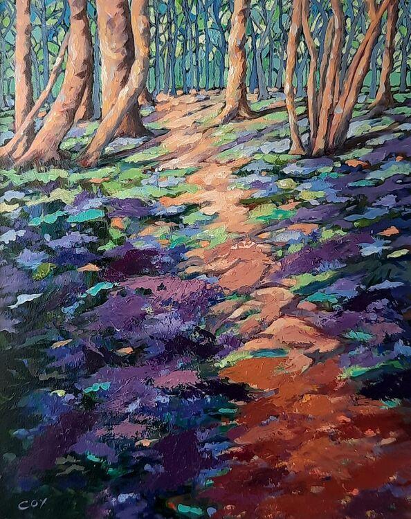 "The Old Bluebell woods 20"" x 16"" framed £425"