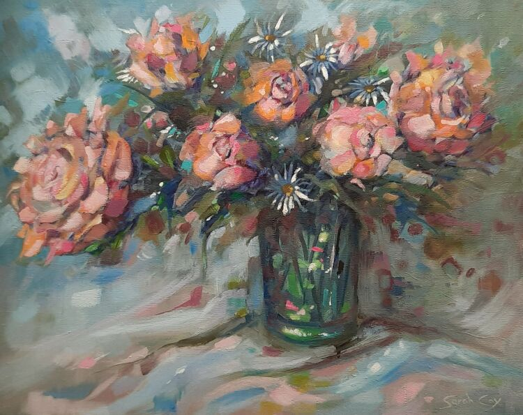 """Perfectly Pink oil on canvas 20"""" x 16"""""""