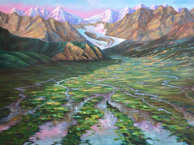 Summer Dazzle in the Artic Tundra