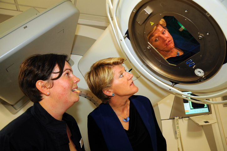 Clare Balding opens the new radiotheraphy unit