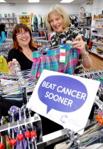 Theresa May MP visits the Cancer Research shop in Maidenhead