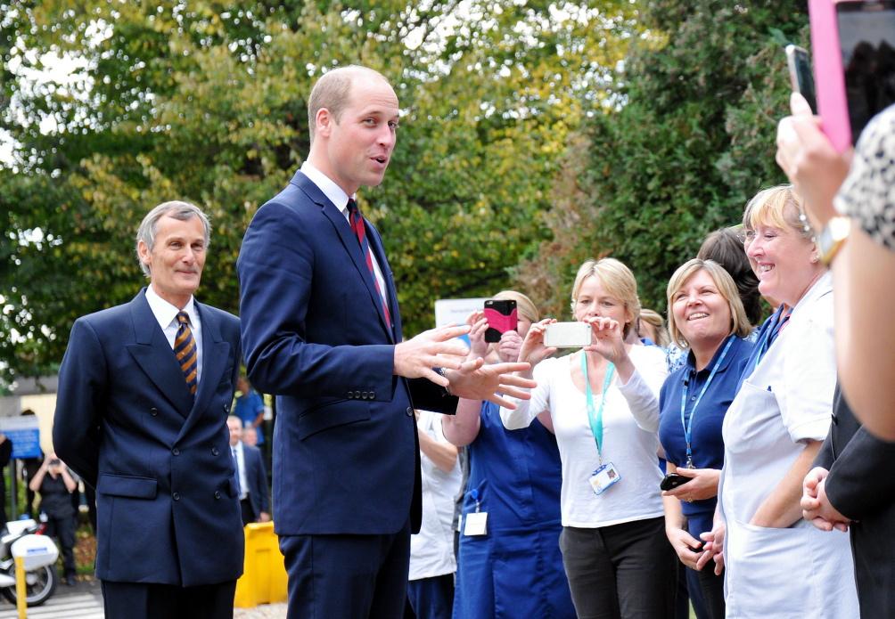 HRH Prince William visits Basingstoke & NH Hospital