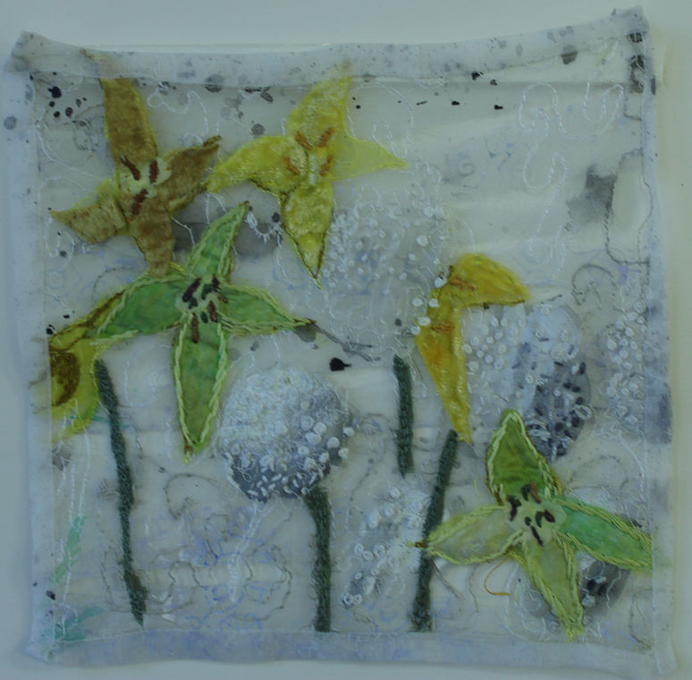 Mixed media textile piece