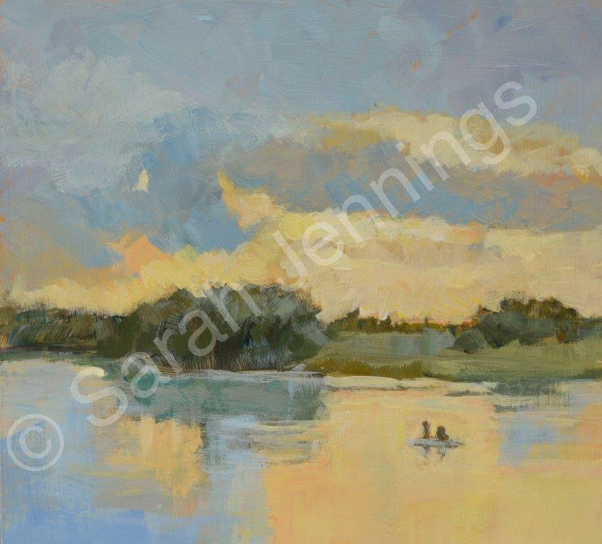 Rutland Water. Winter Sunset 1 (sold)