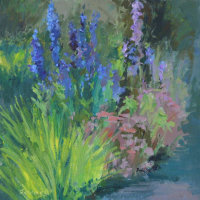 Delphiniums by the Path
