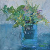 Beanz Bouquet (currently on exhibition at Stamford Arts Centre priced £185 framed)