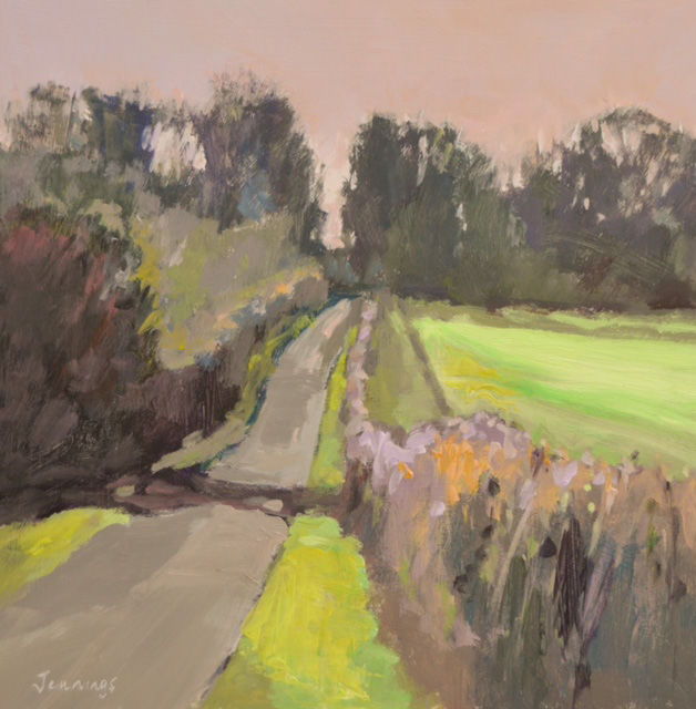 January Lane. Pink Sky.(currently on exhibition at Stamford Arts Centre priced £275 framed)