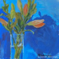 Lilies (daily painting) (SOLD)