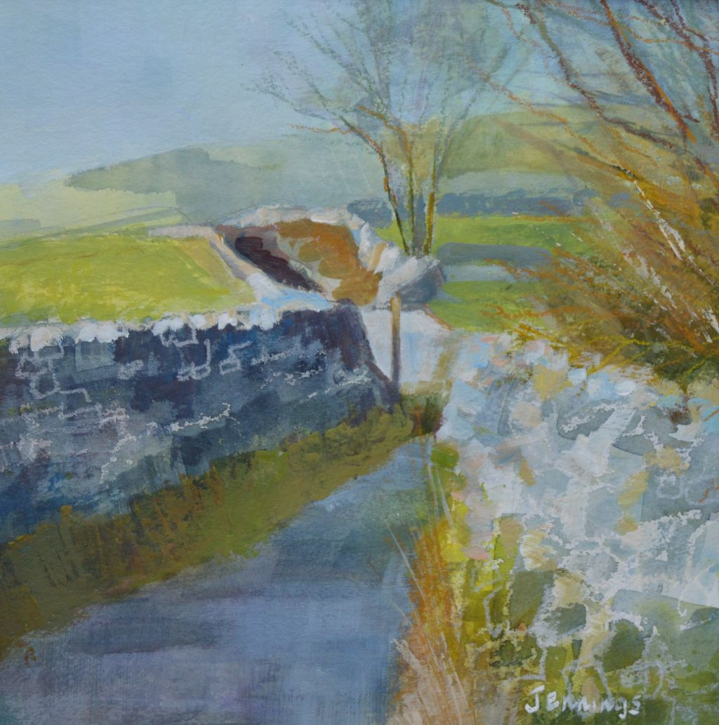 Bend in the road. Yorkshire Dales (February) (Sold)