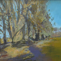 Blue Sky, Purple Shadows (currently on exhibition at Patchings Art Centre priced £300 framed)