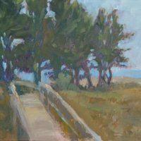 Boardwalk to the beach, Holkham