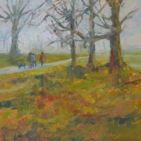 Burghley dog walkers, February