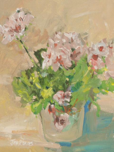 Pink Geraniums (SOLD)