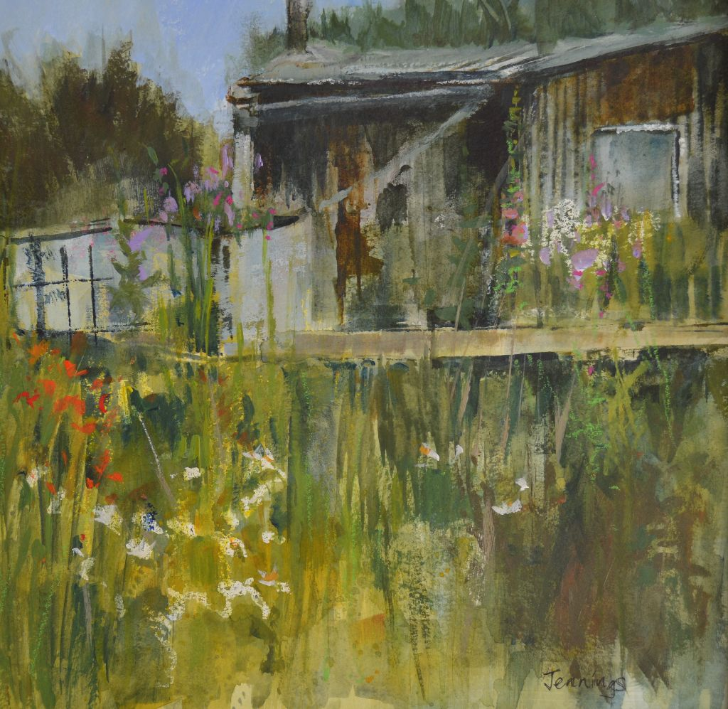 The Old Shed (exhibited at  Royal Institute of Painters in Water Colours exhibition 2018) (Sold)
