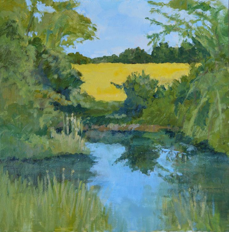 River Welland and rape field (SOLD)