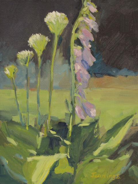 White Alliums and Foxglove £50