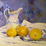 Blue Jug & Lemons