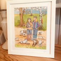 Framed illustrations from photos