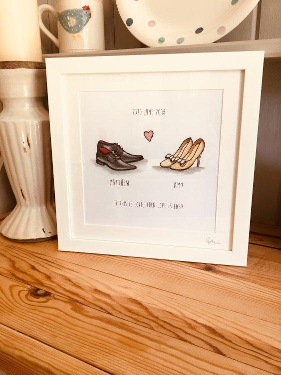 Wedding shoes framed