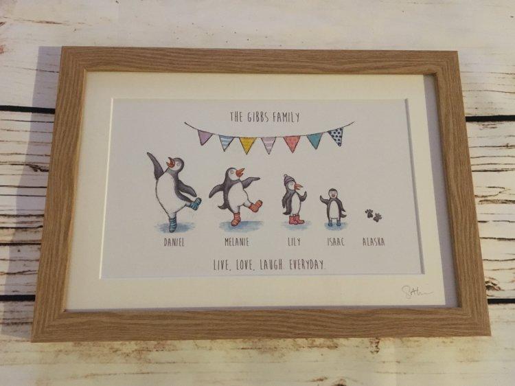 Penguin prints framed £28