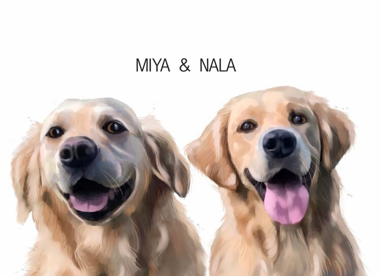 Double dog portrait