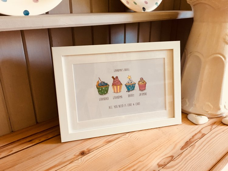framed cupcake print
