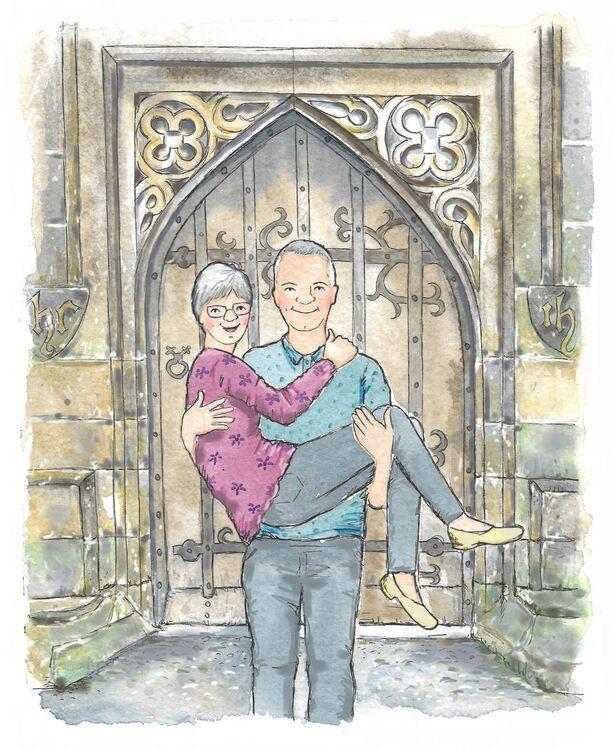 40th wedding anniversary outside the church