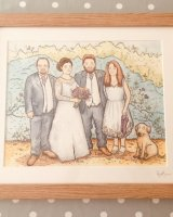 Family illustrations £79 framed