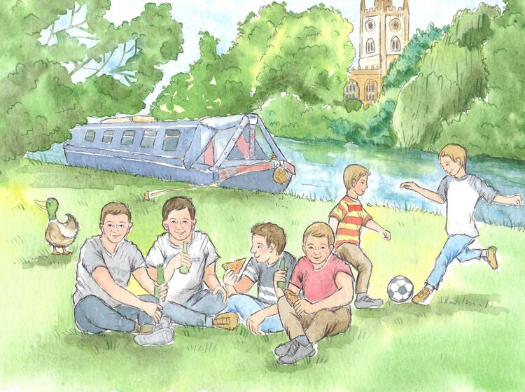 Grandsons in Stratford upon Avon