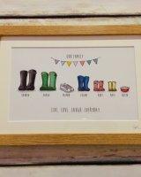 Wellie boot prints