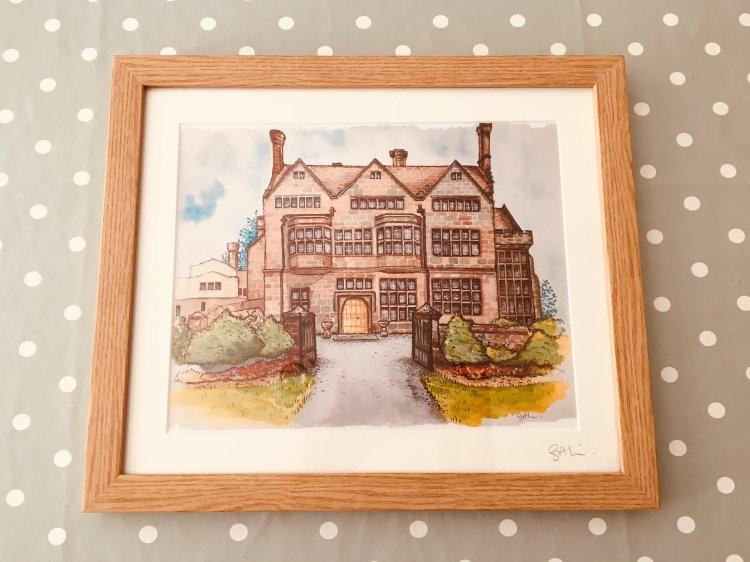 framed original Adcote School for girls