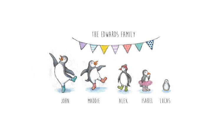 Penguin prints unframed