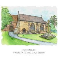Church paintings framed £49