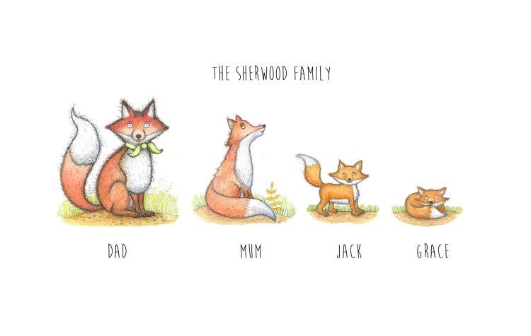 unframed fox print