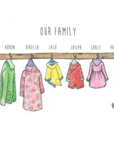 Coats on hooks family prints