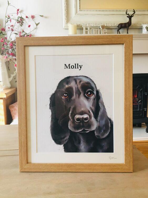 Pet portraits framed
