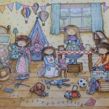Children in playroom