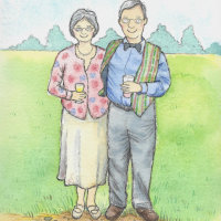 Nain & Taid illustration from photos