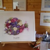 'Jane's Bouquet', Example wedding bouquet painting