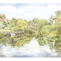 'Approach to Horseshoe Weir'