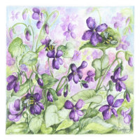 'Bees on Violets'
