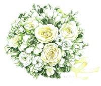 'FLORAL ESSENCE' - Bridal Bouquet Artwork