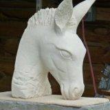 Donkey at LAssiolo. Lecce limestone